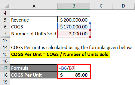 COGS calculation