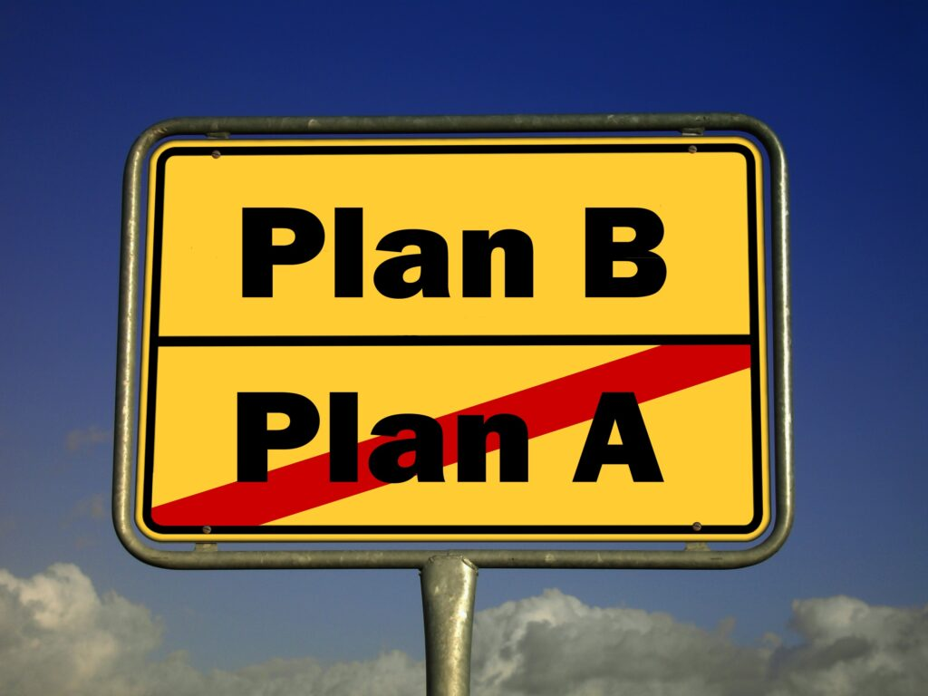 image of board with plan B on it